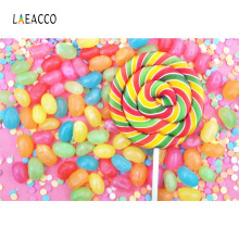 Laeacco Baby Colorful Candy Lolipop Newborn Portrait Photography Backgrounds Customized Photographic Backdrops For Photo Studio kate newborn baby backdrops colorful chocolate beans photo sweet candy for children large size seamless photo