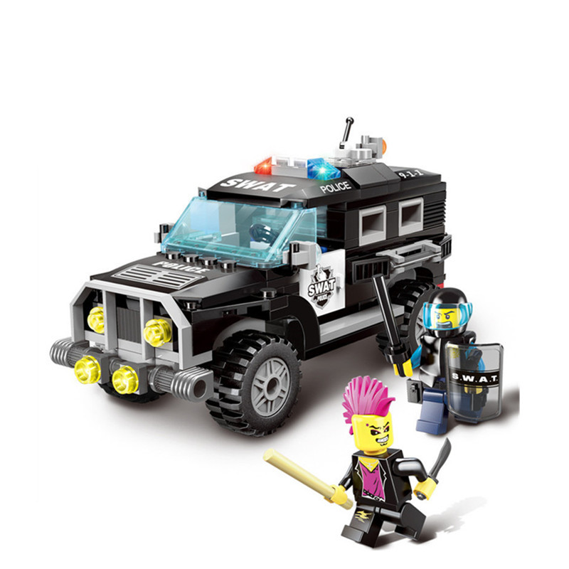 185pcs Explosion-proof Police Legoings Model Building Blocks Kit Kids Education Toys Birthday Gifts