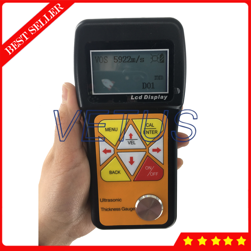 VTS-160 Portable Ultrasonic Thickness Gauge Meter Tester With 0.75 to 600mm Steel Range For metals plastic ceramice TestingVTS-160 Portable Ultrasonic Thickness Gauge Meter Tester With 0.75 to 600mm Steel Range For metals plastic ceramice Testing