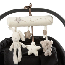 2019 New Hanging Bed Rabbit baby Hand Bell Safety Seat Plush Toy Multifunctional Plush Toy Stroller Mobile Gifts