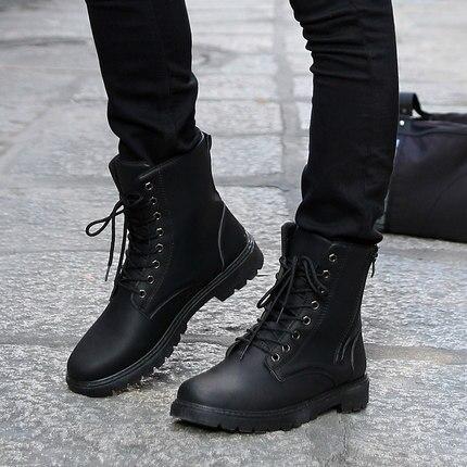 Mùa thu và mùa đông người đàn ông của giày thường giày cao giày boots Anh khởi động phong cách giày Hiệp Sĩ giày thời trang người đàn ông da đen khởi động