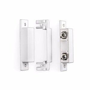 Image 5 - 5 Stks/partij Wired Deur Raam Magnetische Sensor Switch Werk Met Ptsn En Gsm Bedrade Alarmsysteem Deur Window Gap Detector