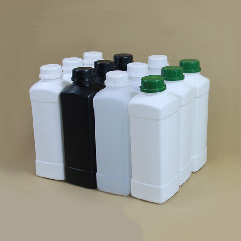 500ML,1000ML Square Plastic Refillable Bottle Cosmetic Shampoo,Lition,Liquid Packaging Bottles With Lid HDPE Container