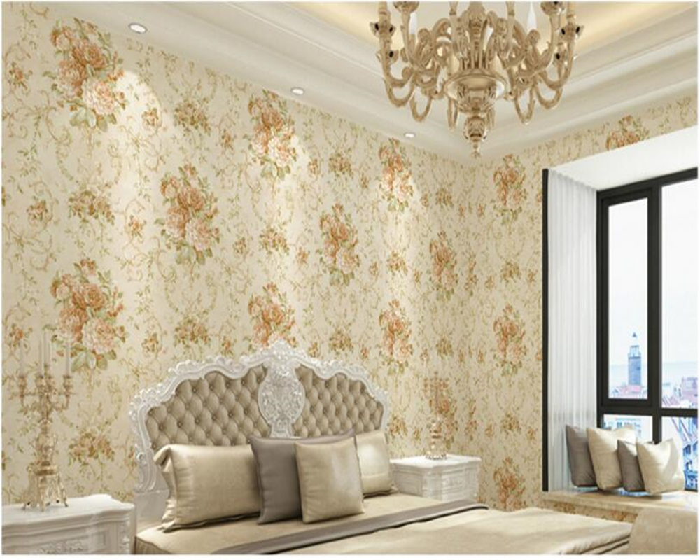 beibehang American Village Retro Pastoral Nonwovens 3d Wallpaper Bedroom House Restaurant Background Wall paper papel de parede snow background wall papel de parede restaurant clubs ktv bar wall paper roll new design texture special style house decoration