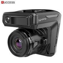 Новый 3 в 1 Автомобильный dvr Dash cam gps 1296 P Автомобильная камера двойной объектив видео рекордер Dashcam Авто регистратор Анти радар Россия Голос