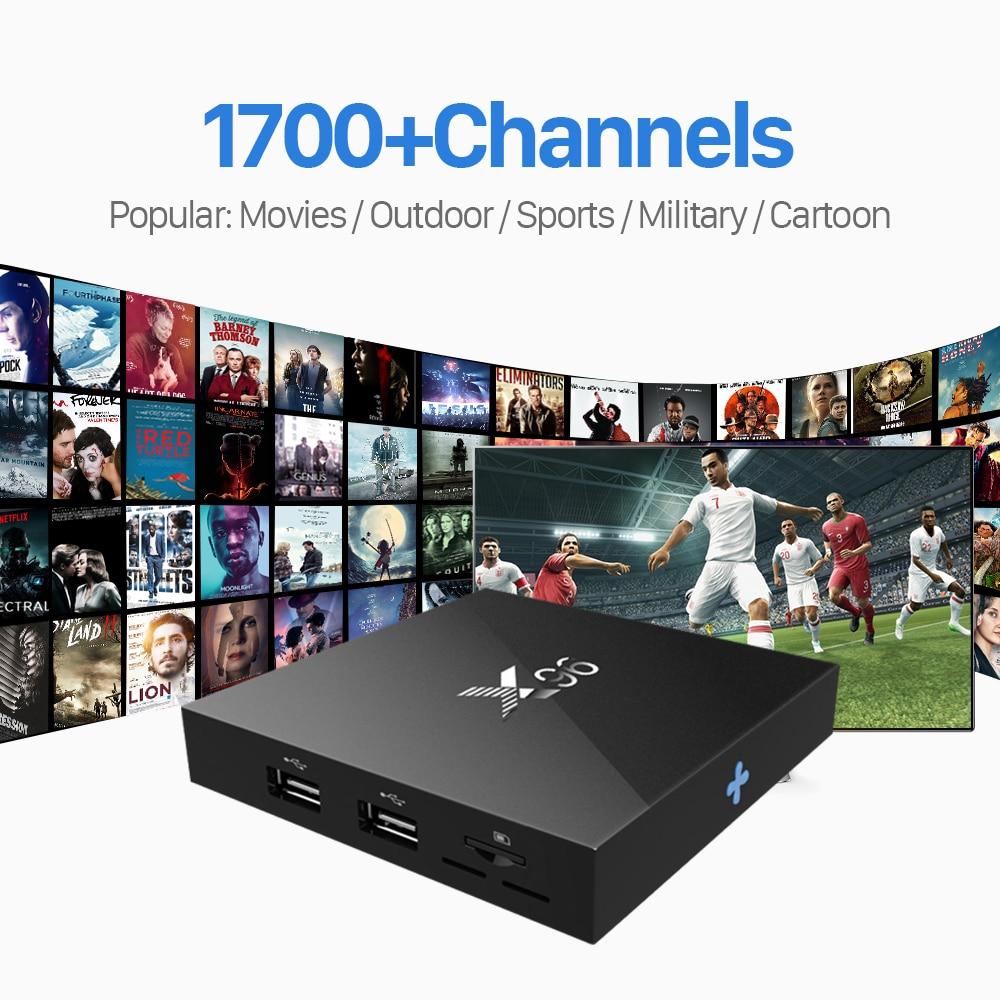 ФОТО X96 Amlogic S905X Android 6.0 Smart TV Box Quad Core HDMI 2.0 Set-top Box with Free IUDTV IPTV Subscription Europe French Arabic