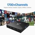 X96 S905X Amlogic Android 6.0 Caixa Smart TV Quad Core HDMI 2.0 Set-top Box com Frete IUDTV Assinatura IPTV Europa Francês Árabe
