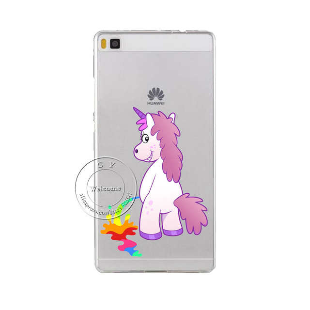 Case Cute Hippo Rainbow Unicorn Horse