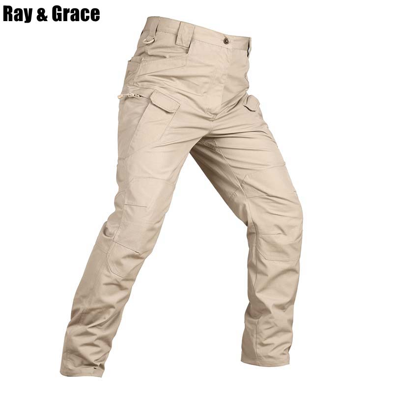 RAY GRACE Tactical Outdoor Hunting Pants Hiking Military Camouflage Pants Men Army Pants Jungle Woodland Trekking
