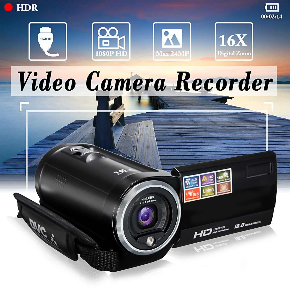 720 P 16X caméscope numérique caméra vidéo DV DVR 2.7 pouces LCD 16MP ZOOM caméscope prise de vue photographie caméra vidéo