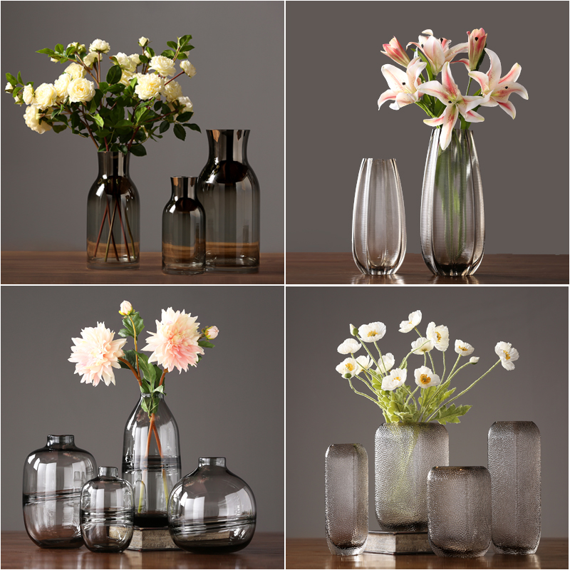 Modern Glass Vase Crafts Terrarium Glass Containers Tabletop  Flower Vase Home Decoration Vase Centerpieces For Weddings Gifts