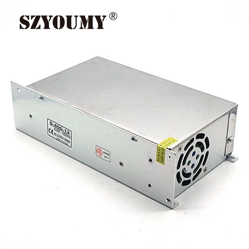 SZYOUMY alimentation à découpage 600 W 12 V 50A AC à DC alimentation entrée 110 V 220 V convertisseur avec un ventilateur de bonne qualité