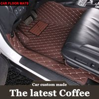 Custom specially made car floor mats for Audi A36D PVC leather luxury perfect carpet rugs liners (2014 present)