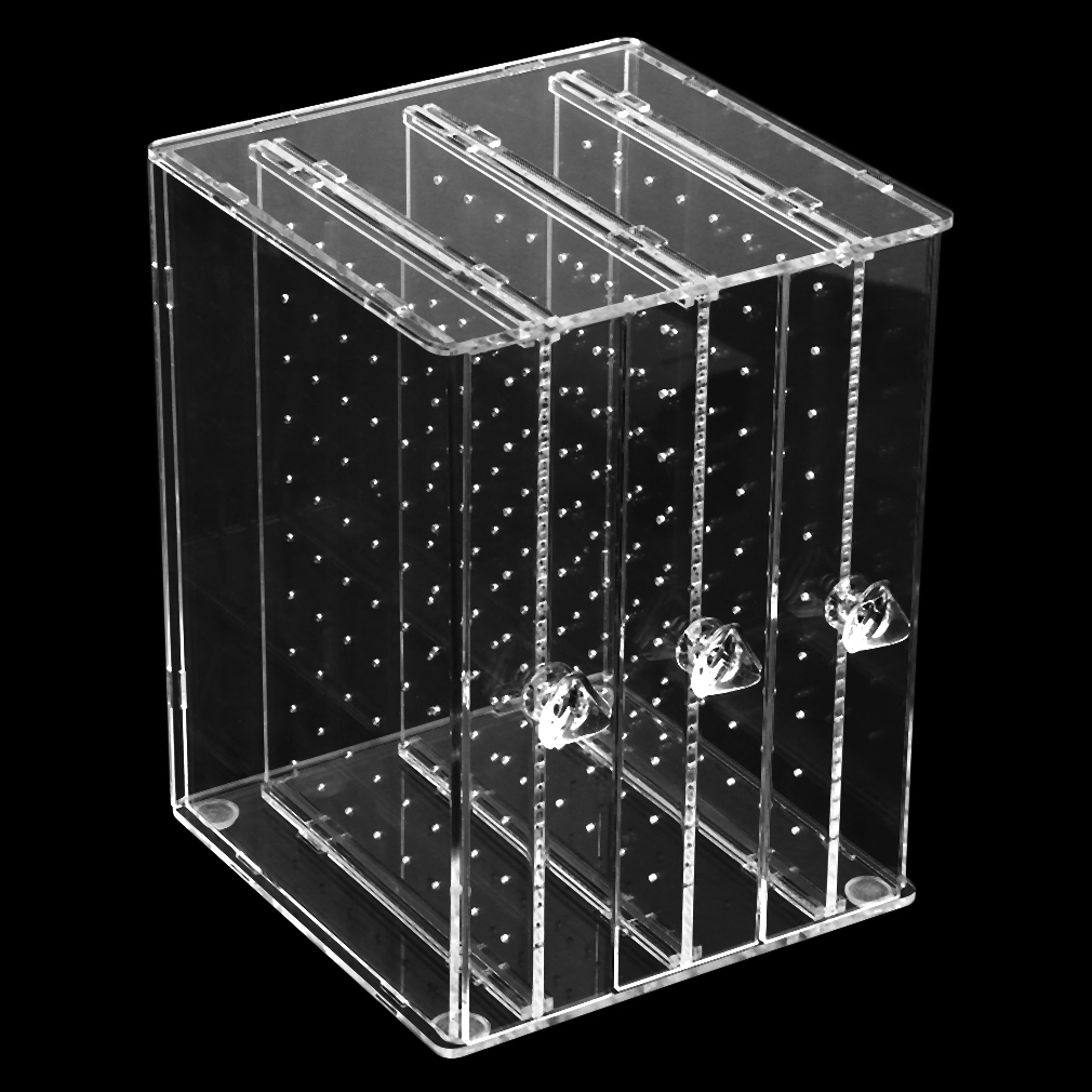 Acrylic Transparent Jewelry Earrings Storage Holder Display Stand Tray Dustproof Women's Earrings Jewelry Display Stand Rack C36 european household jewelry storage display stand