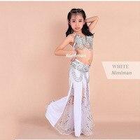 2015 New Design Children Belly Dance Costume Set 3pcs 2pcs Indian High Class Kids Bellydance Wear