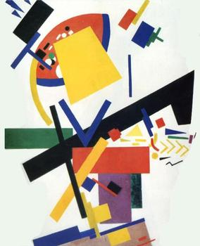 High quality Oil painting Canvas Reproductions Suprematism (1915)02. By Kazimir Malevich hand painted
