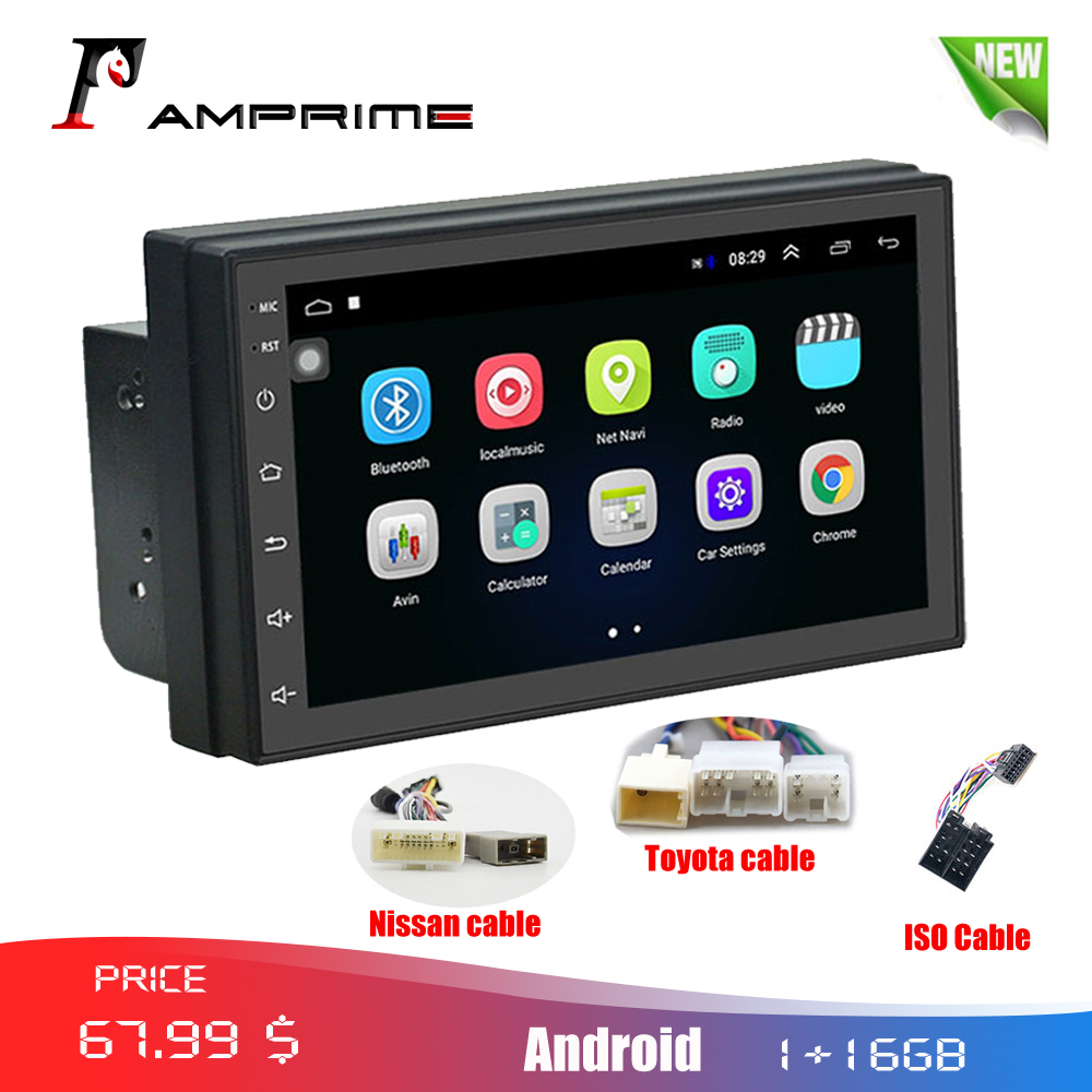 AMPrime 2din Car Radio Android 7 MP5 Multimedia Player Mirror link 2 Din Touch screen GPS Bluetooth FM WIFI auto audio playerAMPrime 2din Car Radio Android 7 MP5 Multimedia Player Mirror link 2 Din Touch screen GPS Bluetooth FM WIFI auto audio player