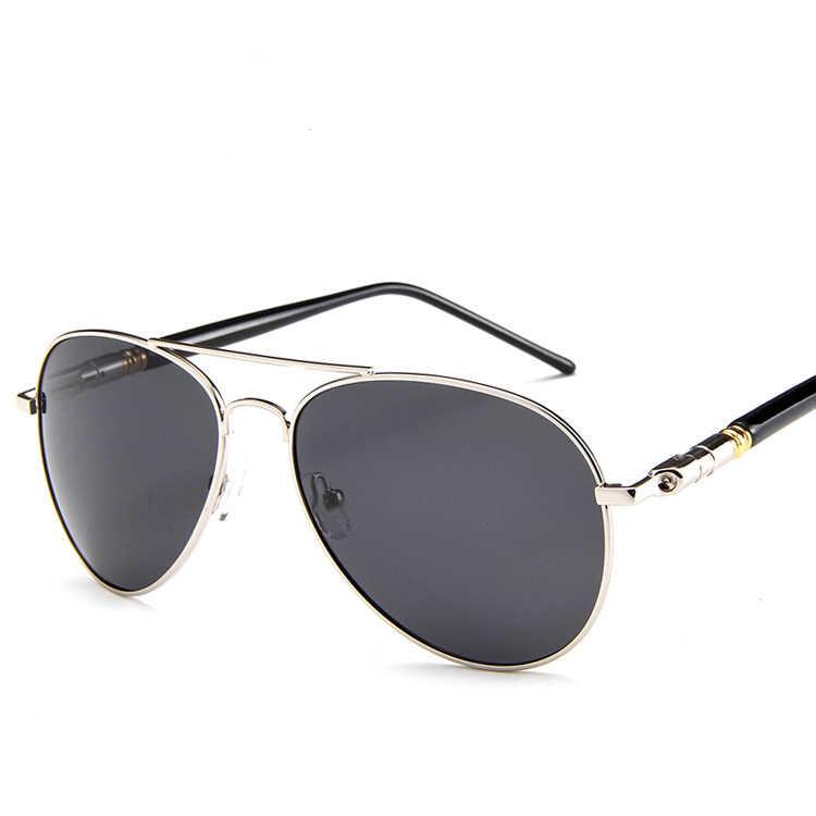 Fashion Aviation Metail Frame Quality Oversized Spring Leg Men Sunglasses Polarized Brand Design Pilot Male Sun Glasses Driving