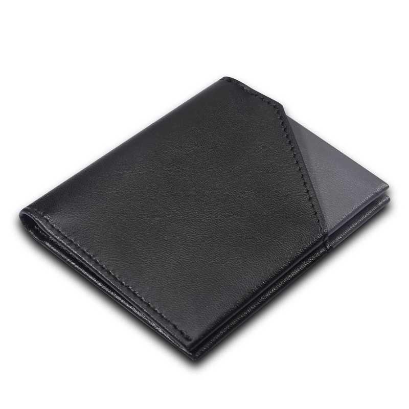 WardWolf мужской тонкий кошелек из натуральной коровьей кожи маленький бумажник для мужчин мужской RFID блокирующий мини-кошелек держатель для карт