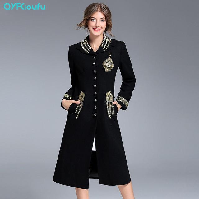Aliexpress.com : Buy Autumn 2017 Fashion Designer Black Long Women ...