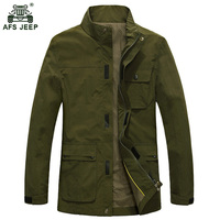 2017 Fashion Deign Mens Overcoats AFS JEEP Brand Mens Jackets Spring Autumn Outwear Jackets Hot Sale