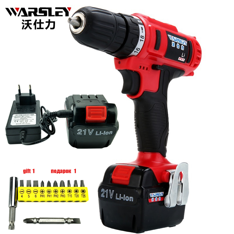 21v electric Drill power tools Cordless Screwdriver  Mini Drill rechargeable cordless  electric drilling dc powered screwdriver mini small cordless electric rechargeable screwdriver 4 8v 180rpm 20pcs screwdriver bits 3pcs drill for home use diy tools