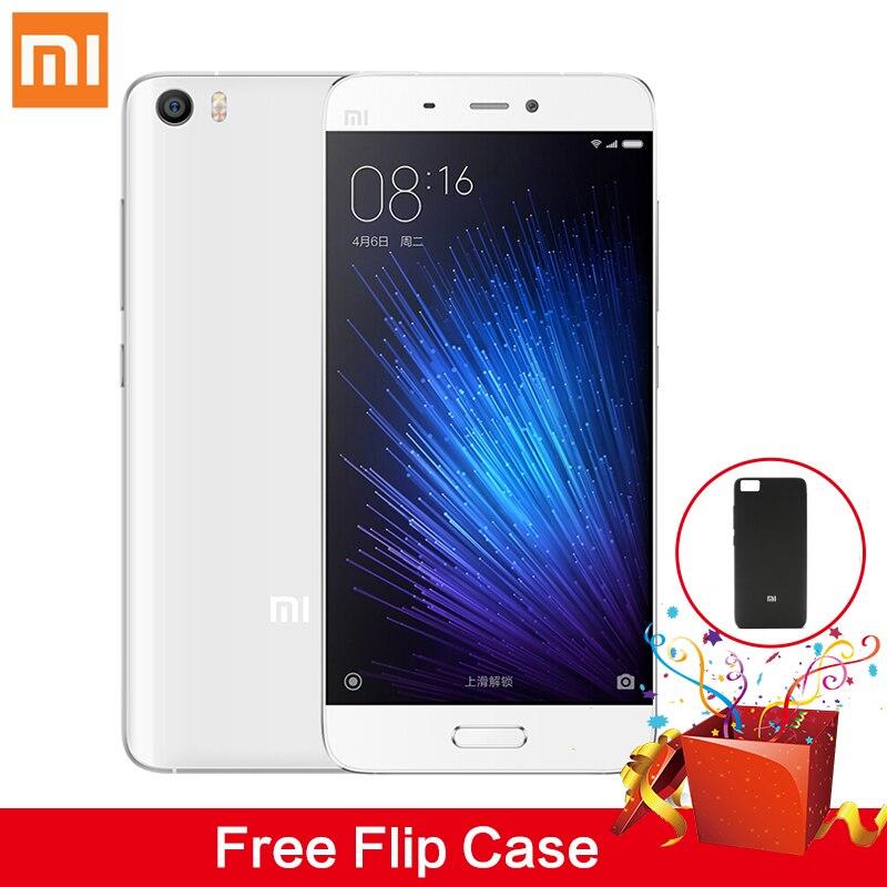 Flip Case Gift Original Xiaomi Mi5 Mi 5 Pro 64G Mobile Phone Xiomi Smartphone 5 15