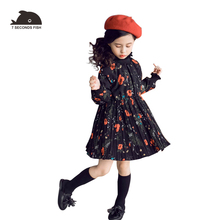 girl lace dress 2019 autumn  floral  1-6 year birthday dresses vestido party princess dress long sleeve 7 seconds fish brand baby girl winter princess dresses vintage red lace long sleeve new year costumes dresses christmas evening party birthday dress