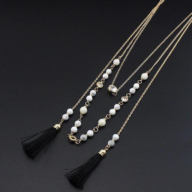 Chicvie ожерелья и подвески из натурального камня многослойное