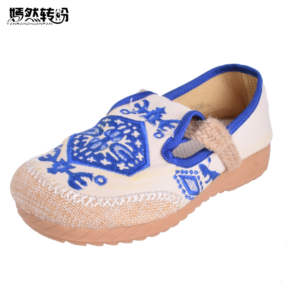 2017 New Old Beijing Boho Cotton Linen Canvas Cloth Shoes National Thailand Handmade Woven Round Toe Flat Shoes With Embroidered old beijing cloth shoes spring and autumn round women s wide stripe flat shoes comfortable shoes free shipping