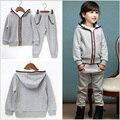 Primavera outono meninas/meninos conjunto de roupas crianças terno conjunto casual two-piece treino terno esporte para menina crianças roupas