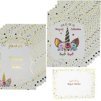 2019 Nuevo Diseño De Unicornio 6 10 Piezas Mucho Tarjetas Y