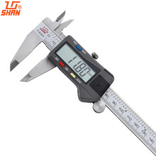 Big discount SHAN Electronic Digital Calipers 0-150mm/0.01 Stainless Steel Gauge Vernier Calipers Metric/Inch Micrometer Measuring Tools