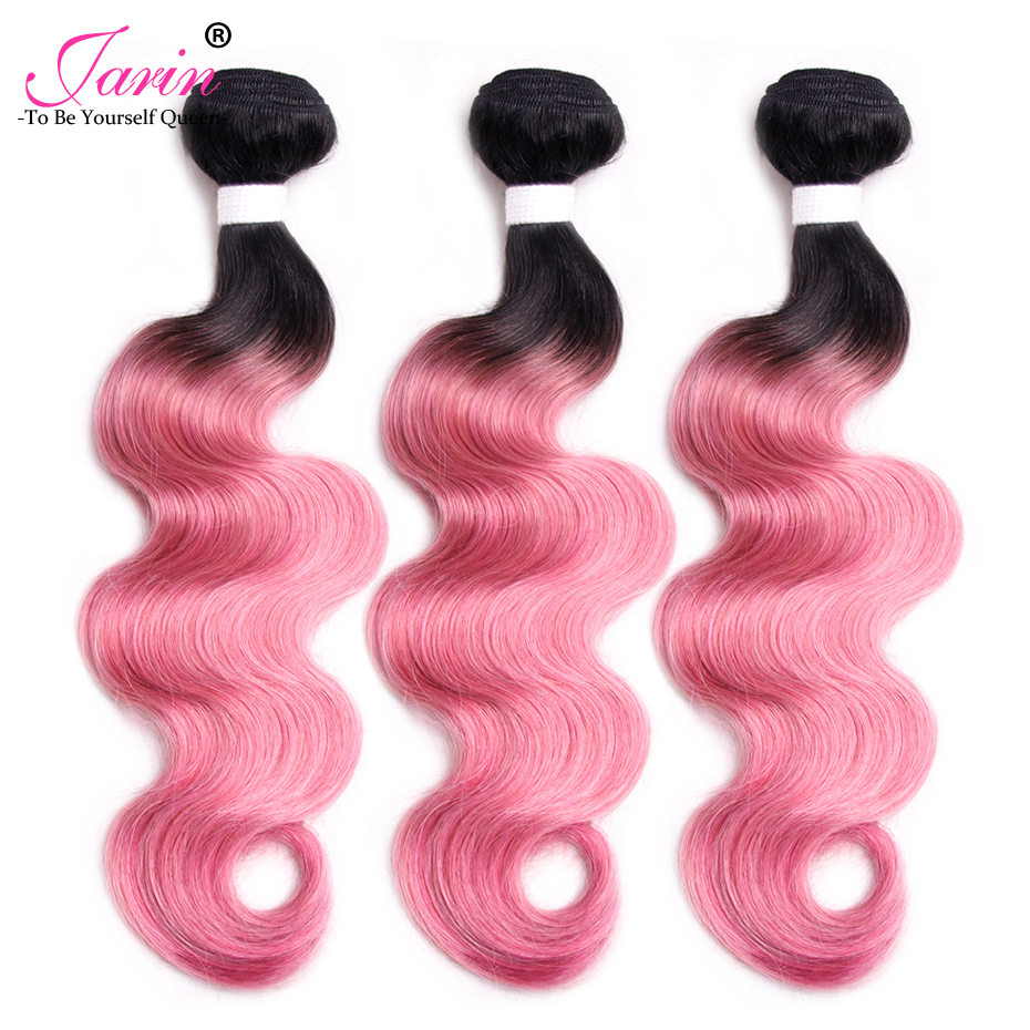 Jarin Brazilian Body Wave 100% Human Hair Weave 100g/pc Ombre 1B Pink Two Tone non Remy Buy 4 or more Free Shipping UPS/DHL