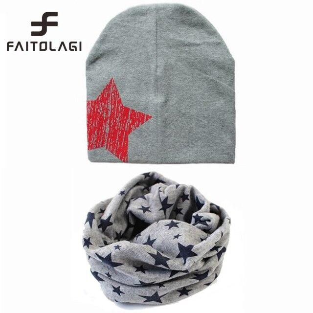 d6a78cebdba5 Hiver automne étoiles bébé chapeau coton écharpe chapeaux enfant chapeaux  écharpe bébé cap bandana casquette pour