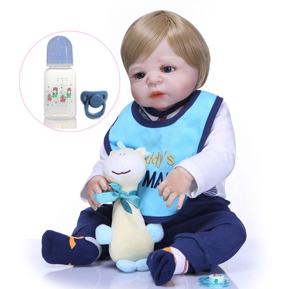 23 pouces reborn bébé poupées Reborn Menino filles meilleur bebes cadeau toutes Silicone Reborn bébé poupées pour enfants Bonecas sûrs et non toxiques