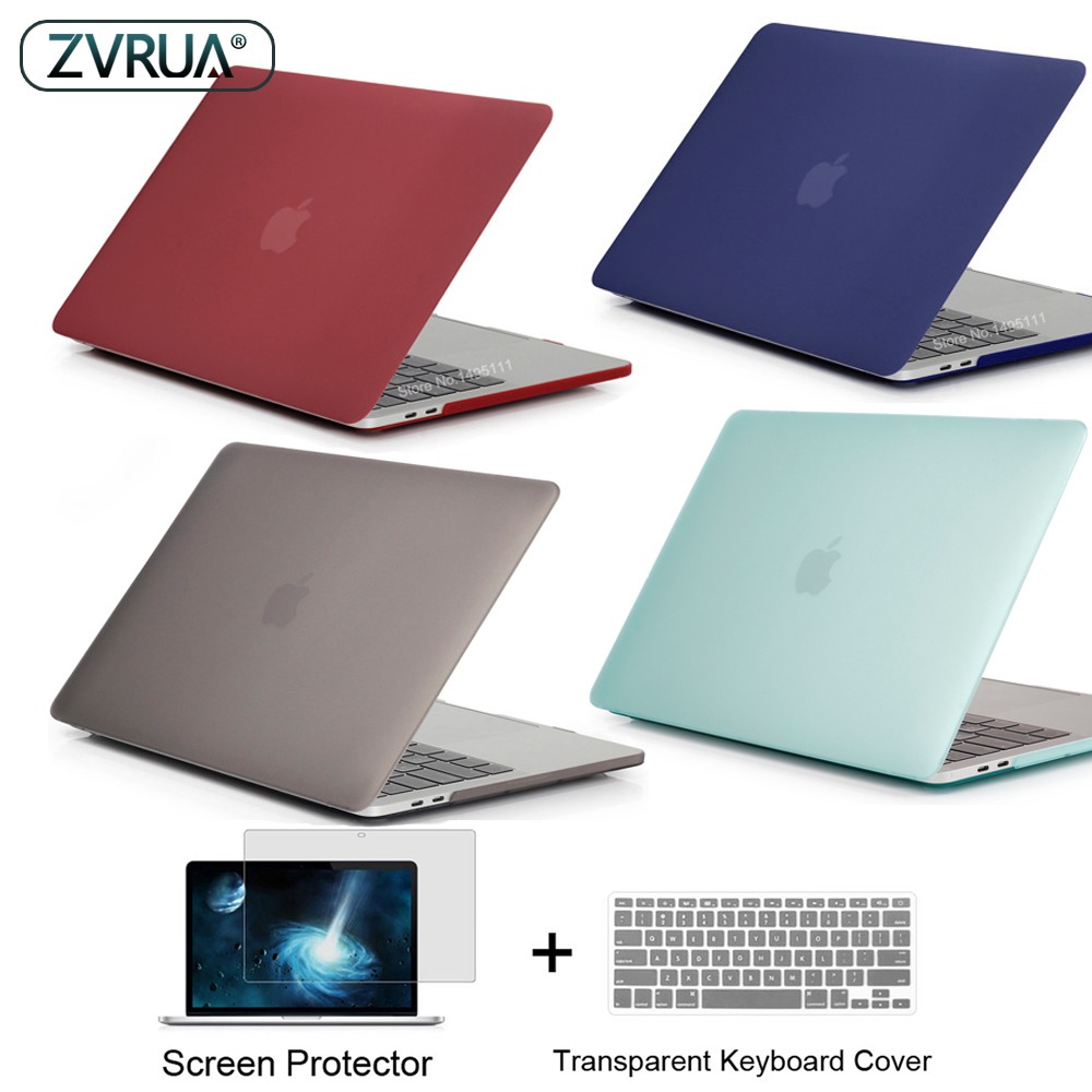 Nuevo color portátil caso para Apple MacBook Air Pro Retina, 11 12 13 15 para mac libro nuevo Pro 13 15 pulgadas con Touch Bar + teclado cubierta