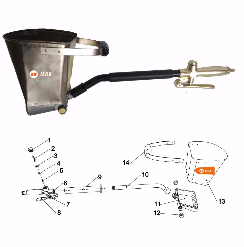 Free Shipping Light Weight Air Stucco Sprayer, Mortar Sprayer, Plaster Hopper Gun, Cement Sprayer Gun