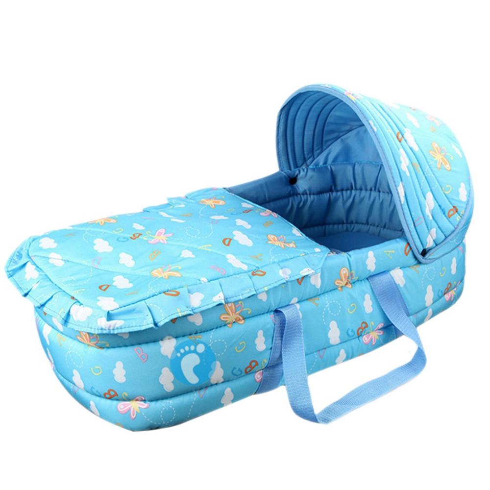 0-7 Month Infant Folding Bed Portable Baby Carrycot Bed Newborn Travel Easy Carry Bassinet Baby Sleeping Basket Cot Bed Cradle quality baby sleeping basket portable newborn cradle bed with awning mosquito net portable bassinet for newborn car seat cradle