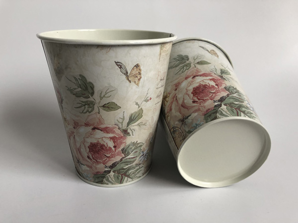 Image 3 - 10Pcs/Lot D11xH12.5CM Round bucket Iron Vase Flower pot Metal Planter Wedding Decoration Europe tin tub-in Flower Pots & Planters from Home & Garden
