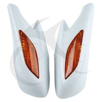 Rear View Mirrors Orange Signals Lens  2