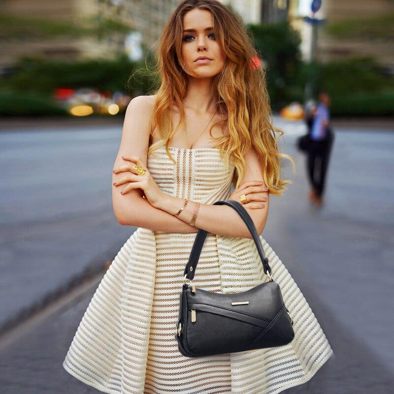 JIANXIU oryginalna skóra bydlęca luksusowe torebki kobiet projektant Crossbody torby na ramię torba dla kobiet 2019 torebka panie torba na drobiazgi w Torebki na ramię od Bagaże i torby na  Grupa 2