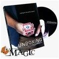 El envío gratuito! 2015 Recién Llegado de Unboxing DVD + Truco-Tarjeta de Trucos de Magia, magia de Cerca, Magia, Accesorios Para el Escenario, diversión, Ilusiones