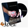 Frete grátis! 2015 New Arrival Unboxing DVD + Gimmick-Cartão de Truques de Mágica, Close Up, Acessórios Mágicos, Palco, divertido, Ilusões