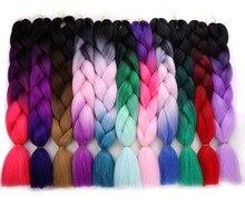 Amir 100g/pack 2 3 4-tone Ombre Kanekalon Jumbo Braids Hair Extensions Synthetic Crochet Braiding Hair Bulk 1packs/Lot