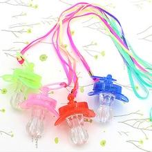 цена на Party Bar Fun Toy Survival Kit Colourful Light Pacifier Rave Glow Stick Nipple