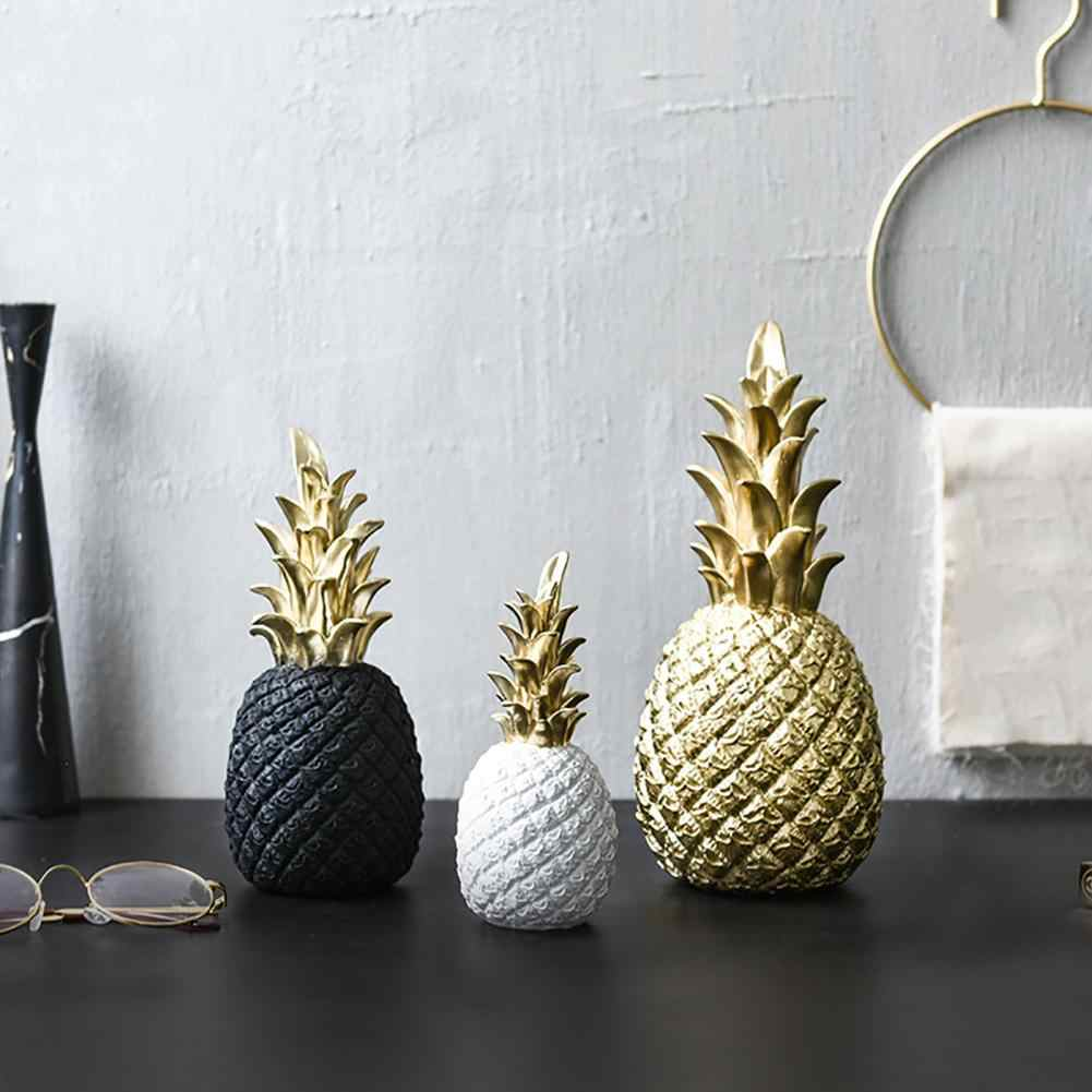 Nordic Modern Pineapple Fruit Living Room Wine Cabinet Window Desktop Home Decor Table Decoration Crafts Hot