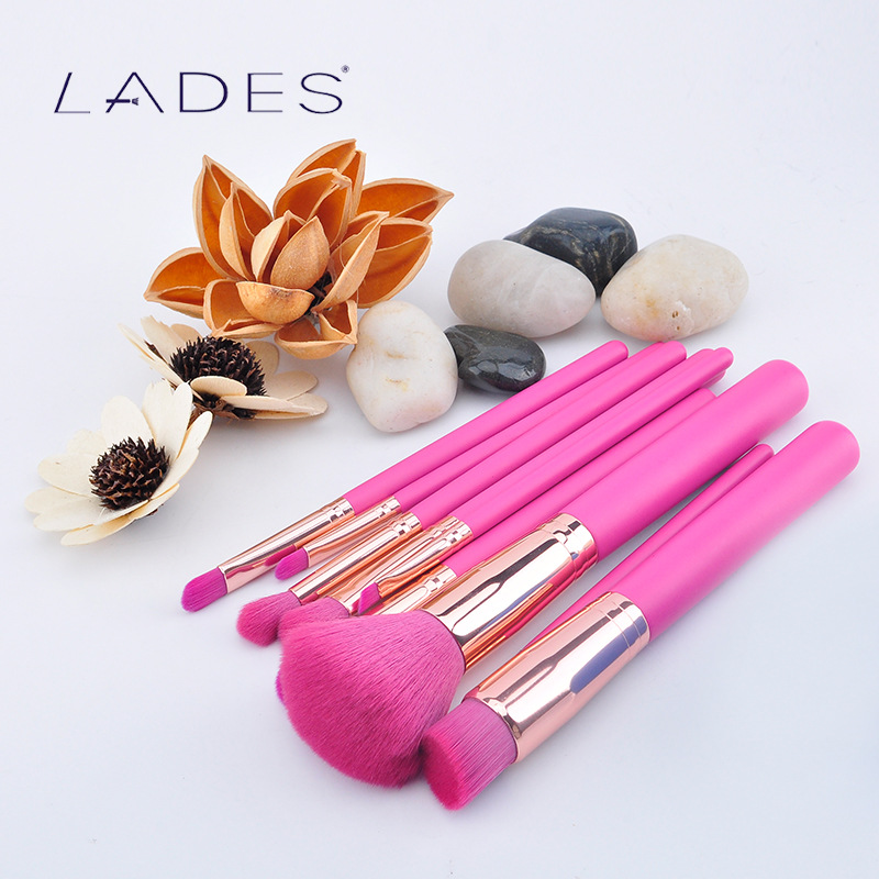 LADES 9Pcs Pink Makeup Brushes Set Comestic Powder Foundation Blush Eyeshadow Eyeliner Lip Beauty Make up Brush Tools Maquiagem lades 9pcs pink makeup brushes set comestic powder foundation blush eyeshadow eyeliner lip beauty make up brush tools maquiagem