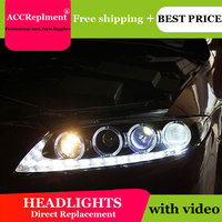 AUTO.PRO 2003 2013 For mazda 6 headlights LED light bar h7 For mazda 6 head lamps Q5 bi xenon lens HID kit projector LED Blub