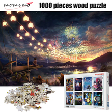 MOMEMO Brilliant Fireworks 1000 Pieces Jigsaw Puzzle Wooden Adult Decompression Puzzles High Definition Toys